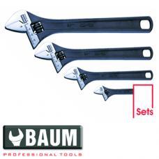 Набор ключей разводных на полотне 4 пр., L=100 мм, 150 мм, 200 мм, 250 мм (Baum 190F)
