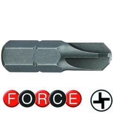 """1/4"""" Бита четырехлепестковая (Torq) TS8, L=25 мм (FORCE 121S2508)"""