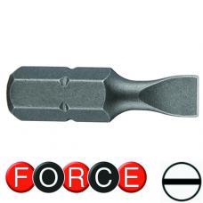 """1/4"""" Бита шлицевая (SL) 0.5х3 мм, L=25 мм (FORCE 1232503)"""