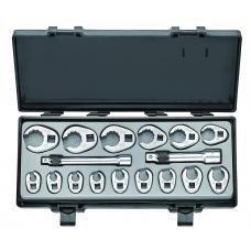 Набор ключей-насадок разрезных 17 пр. (10-26 мм) (FORCE 5172)