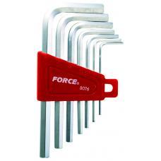 Набор ключей 6-гр. (HEX) Г-обр. 7 пр. (1.5-6 мм) (FORCE 5076)