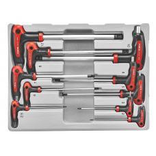 Набор ключей 6-гр. (HEX) Г-обр. с шаром 10 пр. (2-12 мм) (FORCE 5106B)
