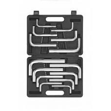 """Набор ключей 6-гр. (HEX) Г-обр. (8-19 мм), (5/16""""-5/8"""") 14 пр. в кейсе (FORCE 5146)"""