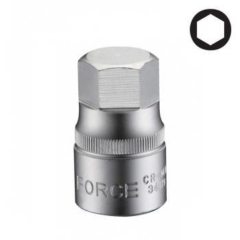 """1/2"""" Головка-бита шестигранная (HEX) цельная 8 мм, L=38 мм (FORCE 34408)"""