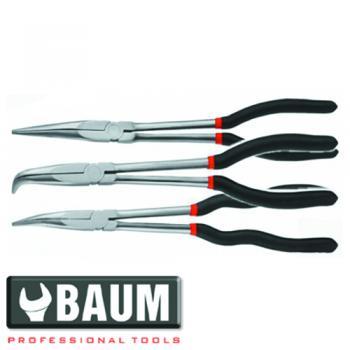 Набор длинногубцев удлиненных на полотне 3 пр. (Baum 190B)