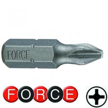 """1/4"""" Бита крестовая РН.0, L=30 мм (FORCE 121300)"""