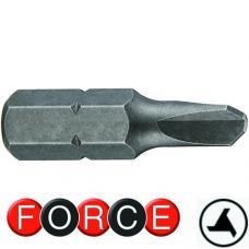 "1/4"" Бита трехлепестковая №1, L=25 мм (FORCE 122S2501)"