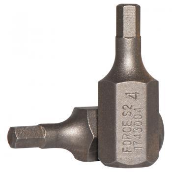 10 мм Бита шестигранная (HEX) 4 мм, L=30 мм (FORCE 1743004)
