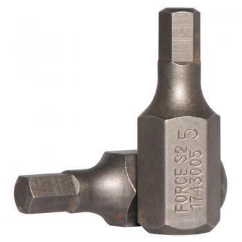 10 мм Бита шестигранная (HEX) 5 мм, L=30 мм (FORCE 1743005)