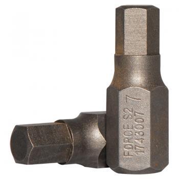 10 мм Бита шестигранная (HEX) 7 мм, L=30 мм (FORCE 1743007)