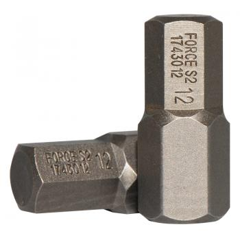 10 мм Бита шестигранная (HEX) 12 мм, L=30 мм (FORCE 1743012)
