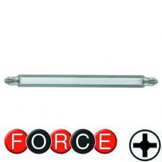 """1/4"""" Бита крестовая двухсторонняя  РH.3xPH.4, L=165 мм (FORCE 121D34)"""