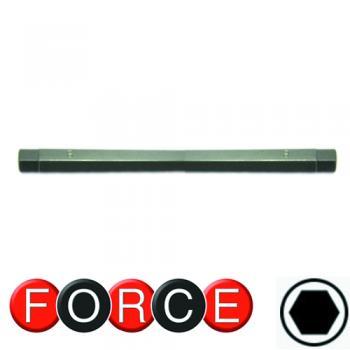 """1/4"""" Бита шестигранная (HEX) двухсторонняя 3x4 мм, L=165 мм (FORCE 124D0304)"""
