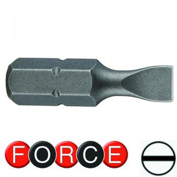 """5/16"""" (8 мм) Бита шлицевая (SL) 7 мм, L=30 мм (FORCE 1533007)"""