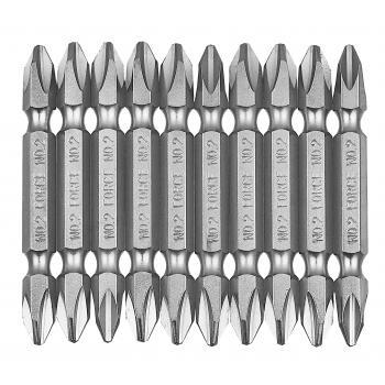 Набор бит крестовых Philips, двухсторонние РН.2, L=45 мм, 10 пр. (FORCE 2101)