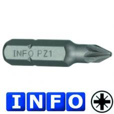 """1/4"""" Бита Pozidriv PZ.0, L=30 мм (INFO 922300 I)"""