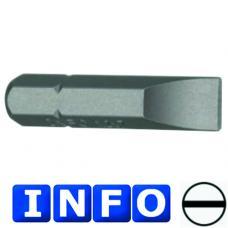 """1/4"""" Бита шлицевая (SL) 0.8х4 мм,  L=30 мм (INFO 9233004 I)"""