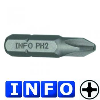 """5/16"""" Бита Philips РН.4, L=30 мм (INFO 951304 I)"""
