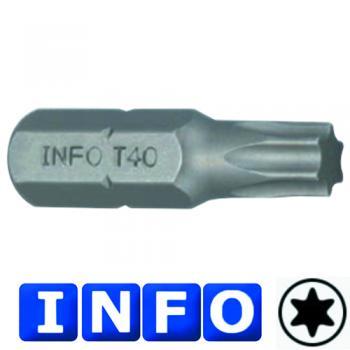 """5/16"""" Бита Torx Т45, L=30 мм (INFO 9563045 I)"""
