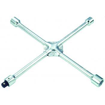 """Ключ баллонный крест 17*19*21*22 мм с съемным переходником 1/2"""" (FORCE 681B400)"""