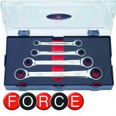 Набор ключей трещоточных 4 пр. (Е6 - Е24) (FORCE K50411)