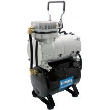 Миникомпрессор низкого давления с ресивером, регулятором и шлангом 1/8HP (Sumake MC-1100THRGM)