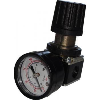 """1/4""""Регулятор давления с манометром для пневмосистемы (Sumake SA-20102A)"""