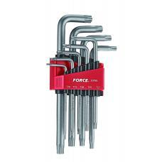 Набор ключей Torx Г-обр. длин. 9 пр. (Т10-Т50) (FORCE 5098L)