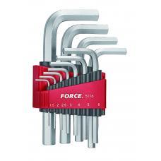 Набор ключей 6-гр. (HEX) Г-обр. 11 пр. (1.5-12 мм) (FORCE 5116)