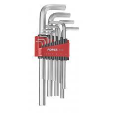 Набор ключей 6-гр. (HEX) Г-обр. длинных 11пр. (1.5-12 мм) (FORCE 5116L)