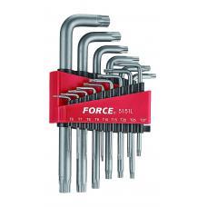 Набор ключей Torx Г-обр. длинных 15 пр. (Т6-Т60) (FORCE 5151L)