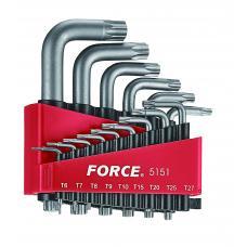 Набор ключей Torx Г-обр. 15 пр. (Т6-Т60) (FORCE 5151)