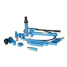 Набор гидроцилиндров и насадок для кузовных работ с насосом 10 т (пластиковый кейс на роликах) (UNITRAUM UN71001L)