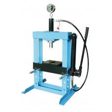 Пресс гидравлический 10 т низкий, с насосом и гидропоршнем с манометром (ход 175 мм) (UNITRAUM UNY10003)